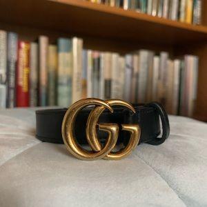 Gucci Double-G Buckle Calfskin Belt